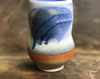 Handmade Pottery Vase | Wheel Thrown Vase | Ceramic Vase | Blue Pottery Vase | Stoneware Vase