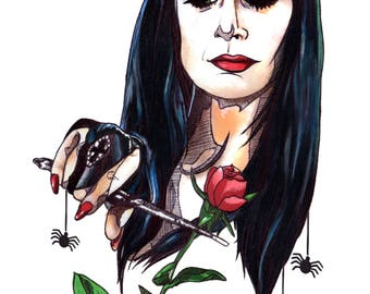 Morticia: The Addams Family A4 Poster