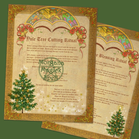 Yule Tree Cutting & Blessing Rituals