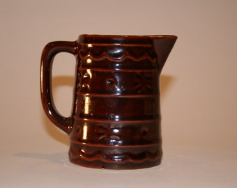 Vintage USA Pottery Cream Pitcher