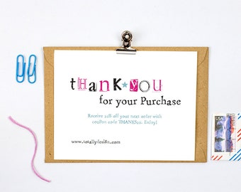 Business thank you cards template instant download naturally business thank you cards instant download simply stamped accmission Choice Image