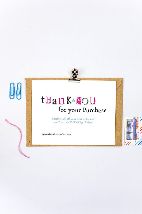 Business Thank You Cards INSTANT DOWNLOAD Simply Stamped