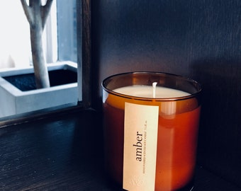 Amber Scented Artisan Soy Candle