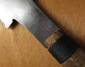 """Japanese """"ryoba"""" double edged carpenter's saw, for ripping and crosscutting.  A larger sized saw for post and beam, coniferous wood."""