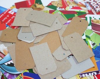50 Upcycled Cardboard Tags