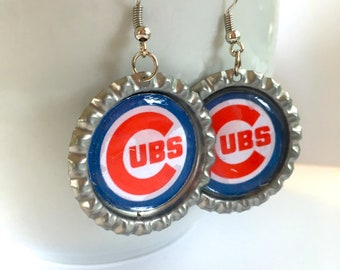 Chicago CUBS Baseball Handcrafted Earrings