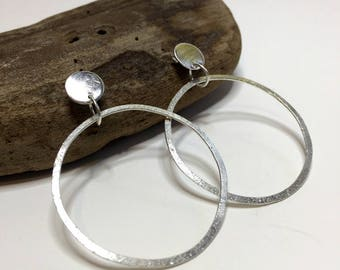 Sterling Silver Post Earrings, Silver Hoop Earrings, Sterling Silver Hoop Earrings, Handmade Earrings, Item #1015