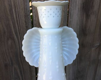 Garden Angel, Vintage Glass, Yard Art