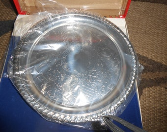 Vintage Leonard Silverplate Cordial Cups and Serving Tray EPNS Original Box
