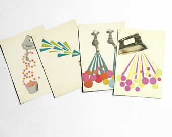 Art Postcards With Envelopes, Mad Men, Affordable Art, Vintage Stationery, Gift Ideas - The Housework is Never Done