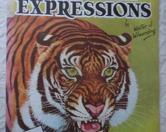 Vintage How To Draw and Paint Animal Expressions by Walter Wilwerding, A Walter Foster Art Instruction Book