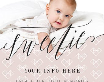 Valentine's Day Overlays & Templates - Perfect for V-Day, Baby Photos - Pink Overlays - Pink Lettering - Calligraphy - Brush Lettering
