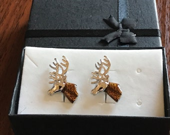 Deer cufflinks, deer hunter, deer hunter Stag's Head, stag cufflinks,stags head, stag cufflinks