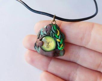REDUCED Goddess pendant, pachamama, mother earth, nature, divine feminine, sacred feminine, wild feminine