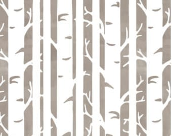 BIRCH Baby Bedding Taupe Neutral Changing Pad Cover -Fitted Crib Sheet -Mini Crib Sheet - Woodland Crib Bedding - Birch Trees Crib Sheet
