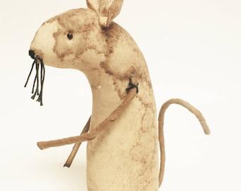 Primitive Mouse, Extreme Primitive Animals, Country Farmhouse Decor