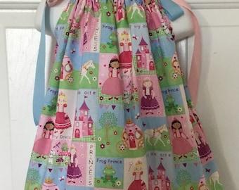 Princess & frog Pillowcase Dress 18m
