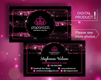 Paparazzi business cards etsy quick view paparazzi business cards colourmoves