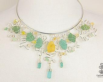 Sea Glass Necklace, Handmade Sea Glass Necklace, Authentic Sea Glass Jewelry, Sea Glass Jewelry, SALE Sea Glass, Elegant Jewelry