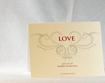 Love lifts up where we belong