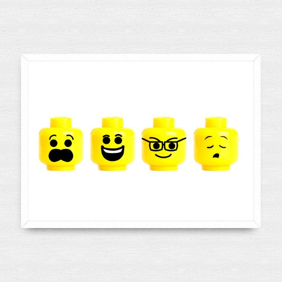 Custom Lego Wall Art Lego Prints Customized Lego Head