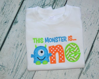 Personalized This Monster is One  Shirt  First Birthday Monster Shirt
