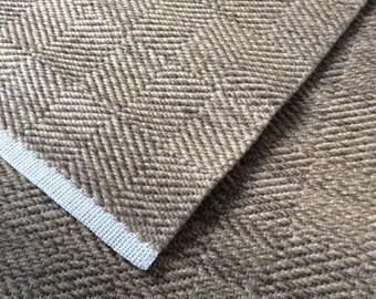 Hand Woven Long Hall Runner Wool and Hemp, 12 Foot Long Neutral Long Wool Rug Runner Woven
