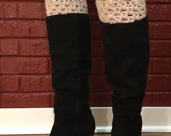 Hand Crocheted Plush Boot Cuffs