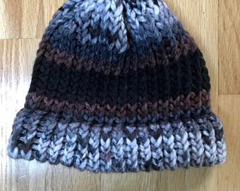Brown Knitted Beanie/Hat