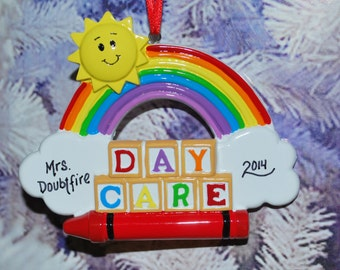 Personalized Day Care Christmas Ornament
