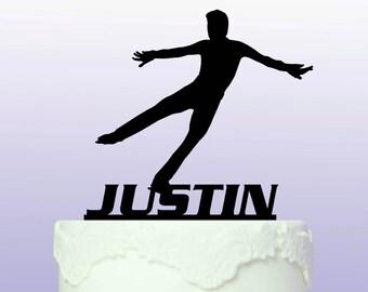 Personalised Ice Skater Cake Topper
