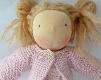 """Anais - Doll, 33cm /13"""", Waldorf doll, cuddle doll, doll girl"""