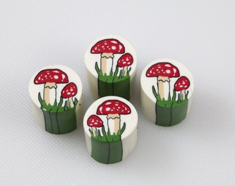 Raw uncured Toadstool polymer clay cane