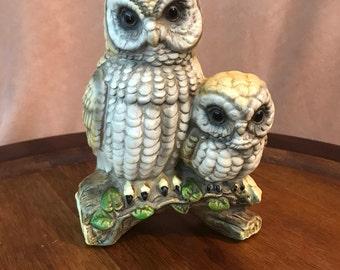 Ceramic Owls- Parent and Child