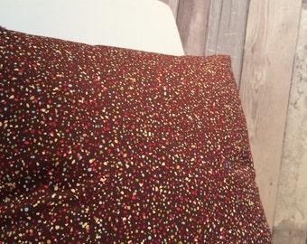 Spotty Cushion / Speckle Cushion / Arty Cushion / Maroon Cushion / Mix Print Cushion / Dotty Cushion / Retro Cushion