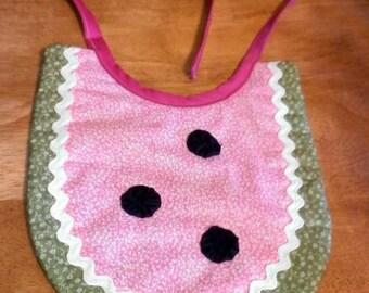 Handmade baby bib - watermelon