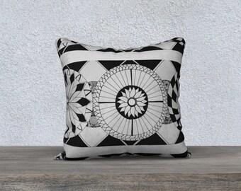 Zen Flower Pillow