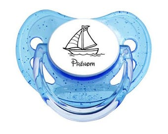 Small boat pacifier to personalized with name