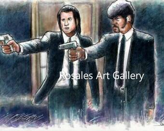 Pulp Fiction Inspired Art Print
