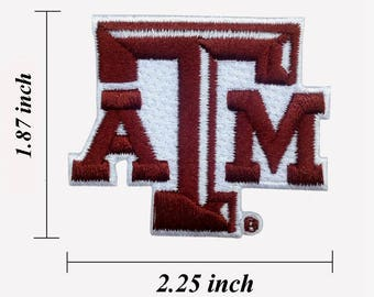 """Texas A&M Logo Size 2.25"""" Embroidered Iron 1 Patches"""