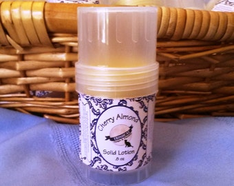 Cherry Almond Shea Beeswax Solid Lotion Twist Up Tubes Vegetarian Amaretto