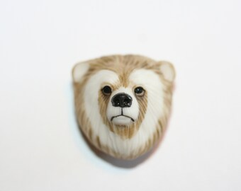 "Laura Mears ""Spirit Bear"" Porcelain Cabochon - RARE"