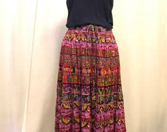 Beautiful Bright//Drapers & Damons// Vintage Midi Skirt// One size fits most