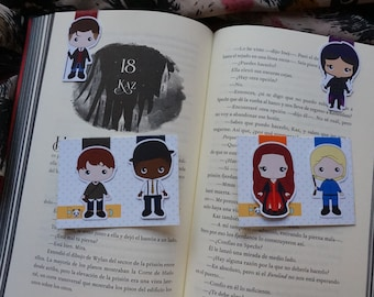Magnetic bookmarks - Six of Crows, Kaz, Inej, Jesper, Wylan, Nina, Matthias, Leigh Bardugo