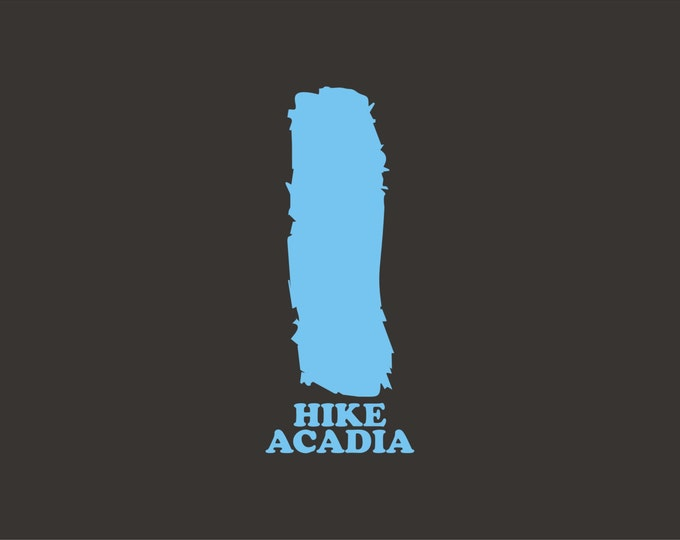 Acadia National Park, Hike Acadia decal, Hike Acadia sticker, ANP decal, ANP Maine decal, Acadia blaze decal, Acadia blaze sticker, hike