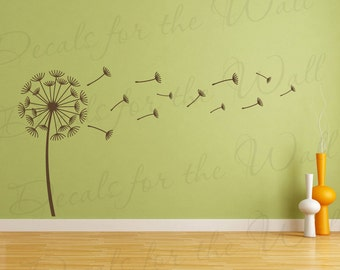 Dandelion Blowing in the Wind Wall Decal Vinyl Sticker Art Large Decoration Sign Graphic Decor Mural G61