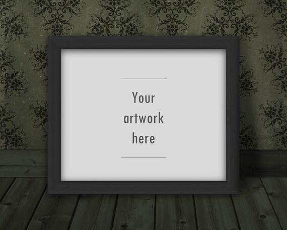 10 x 8 inch mockup landscape mockup horizontal frame mockup