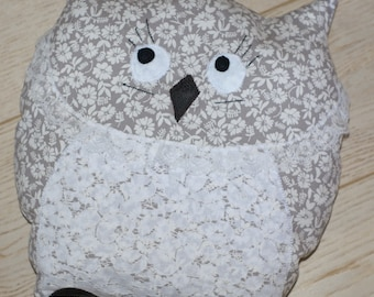 lace ribbons OWL pillow OWL