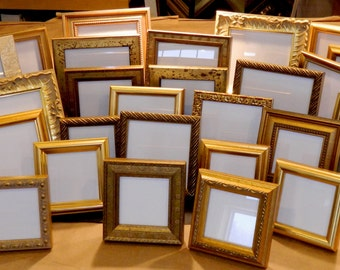 16 Small Gold Frames for Wedding Party Favors Bridesmaids Gifts Bridal Shower