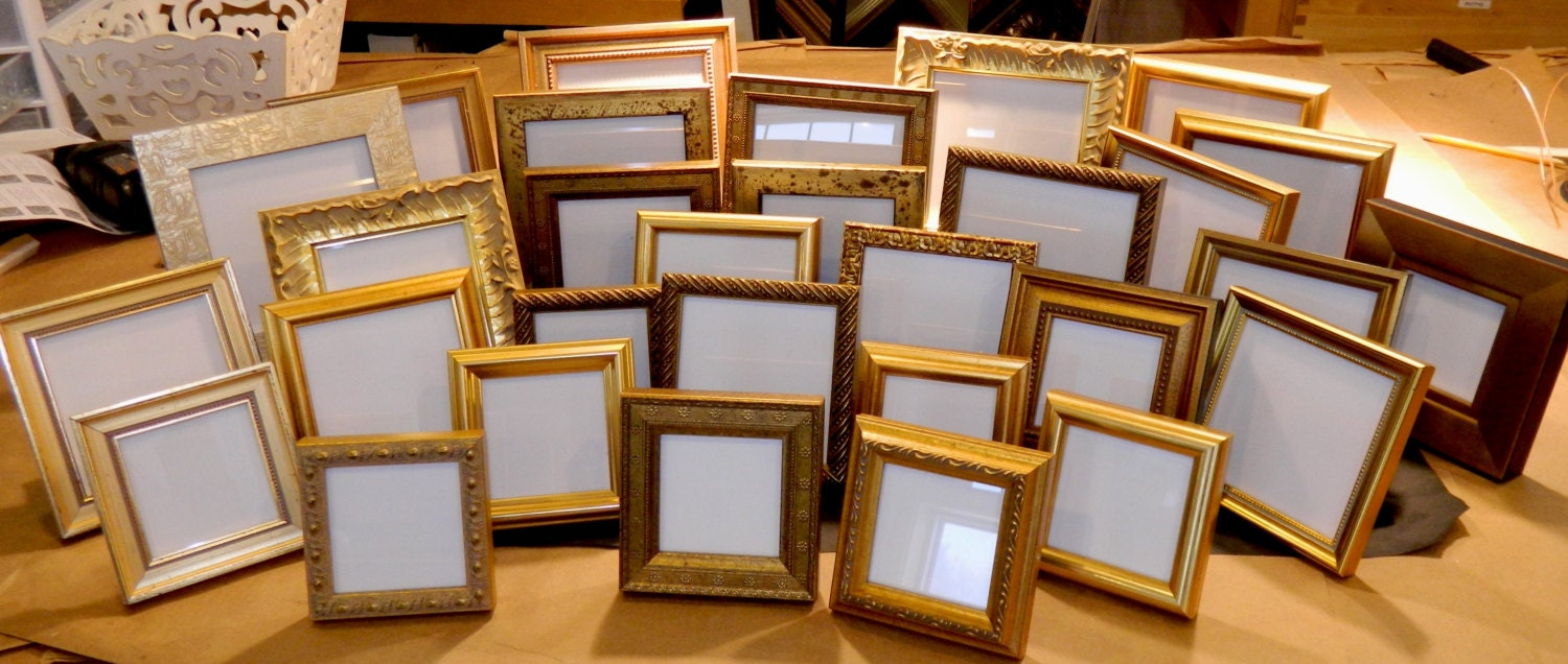 20 Small Gold Frames for 50th Wedding Anniversary Party Event from ...